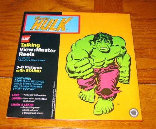 Hulk Talking View Master Reels