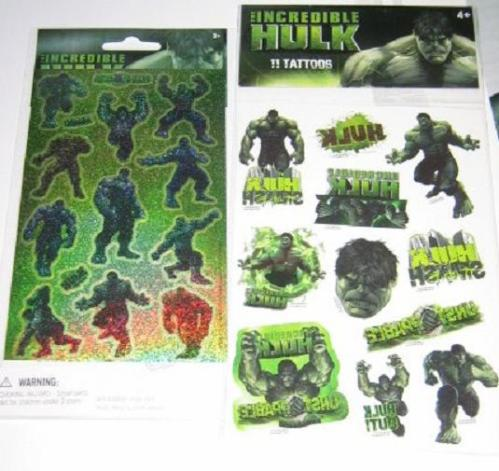 Hulk Stickers and Hulk Tattoos